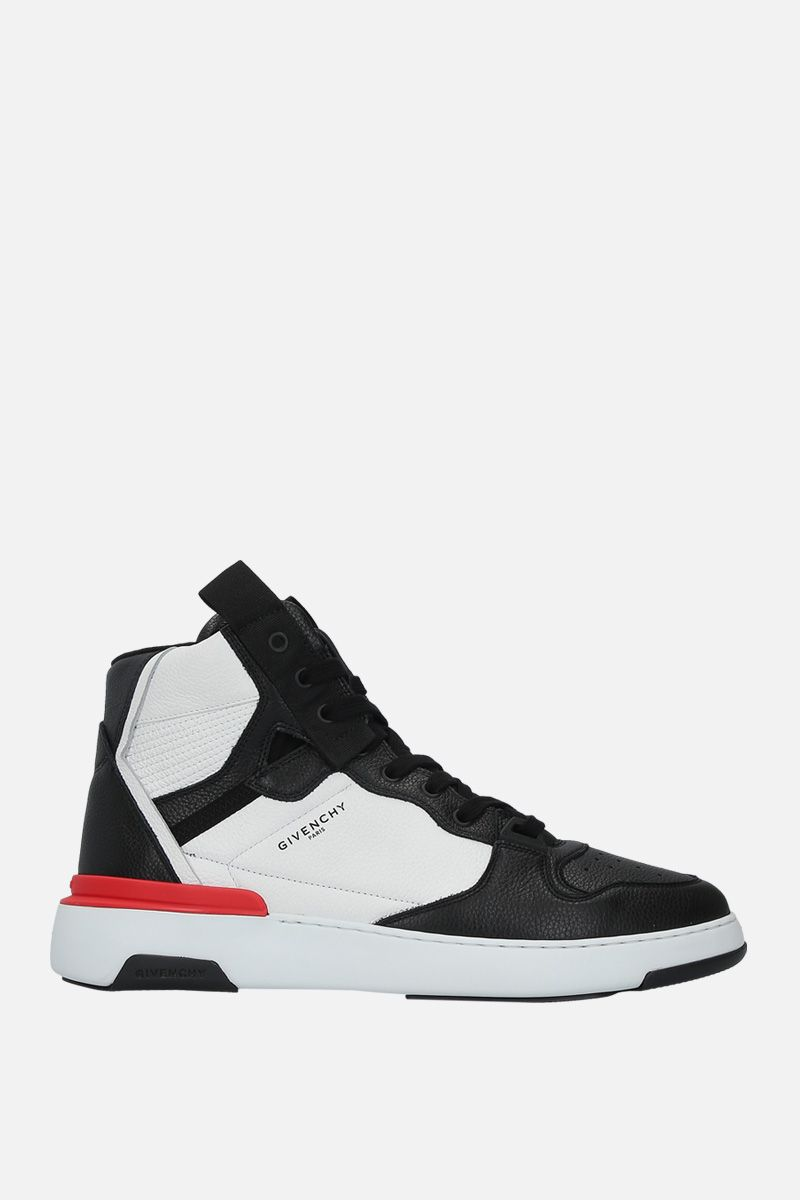 GIVENCHY: Wing grainy leather sneakers Color Multicolor_1
