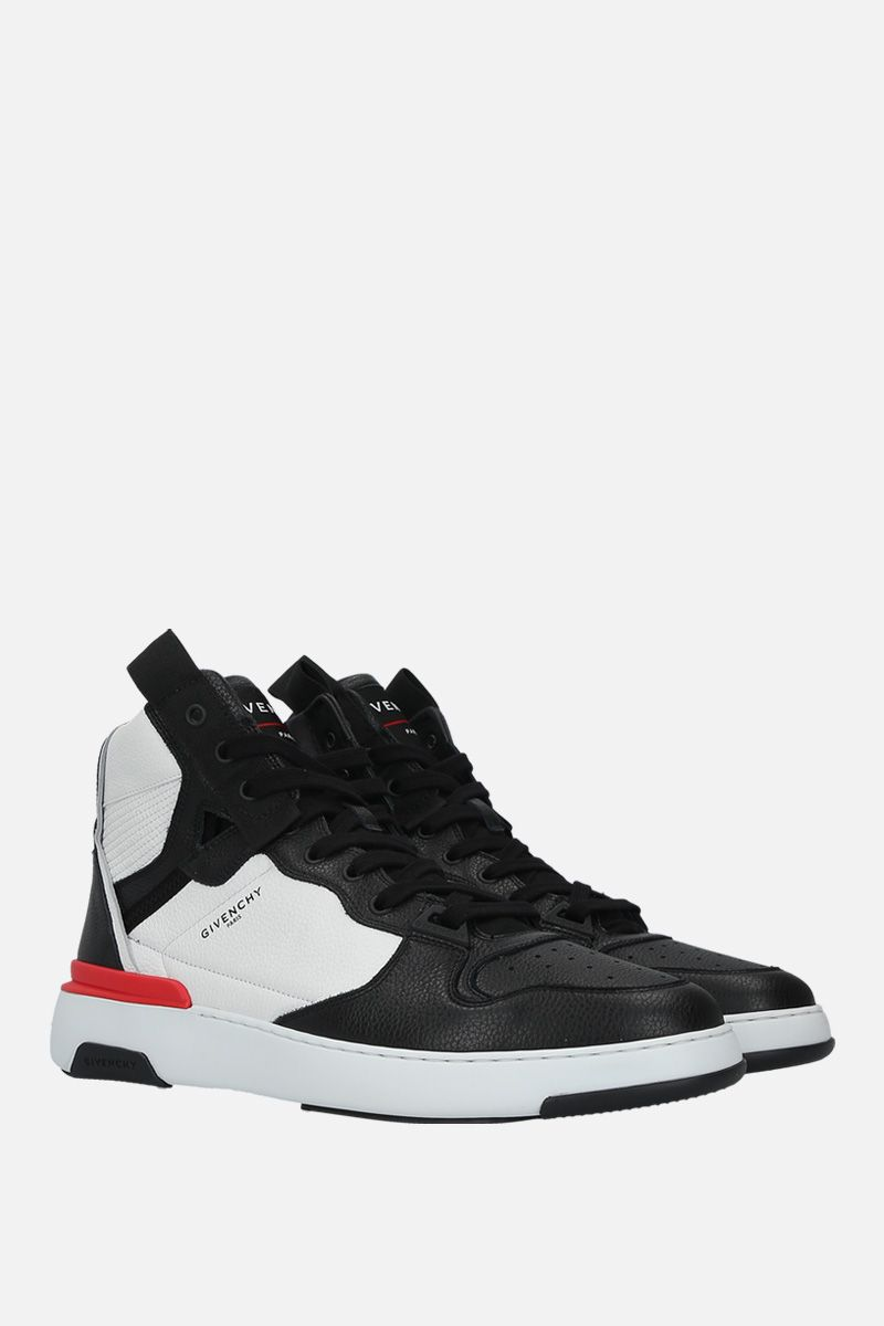 GIVENCHY: Wing grainy leather sneakers Color Multicolor_2