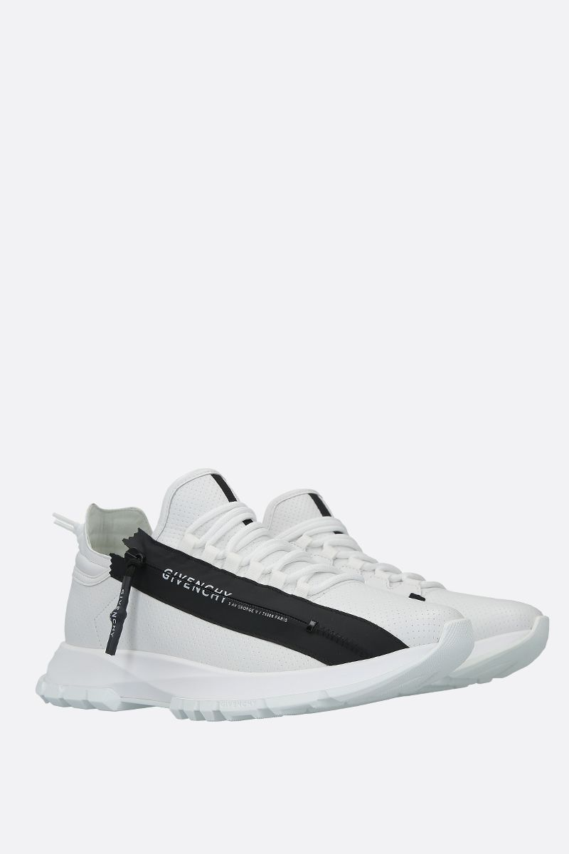 GIVENCHY: Spectre perforated leather sneakers Color White_2