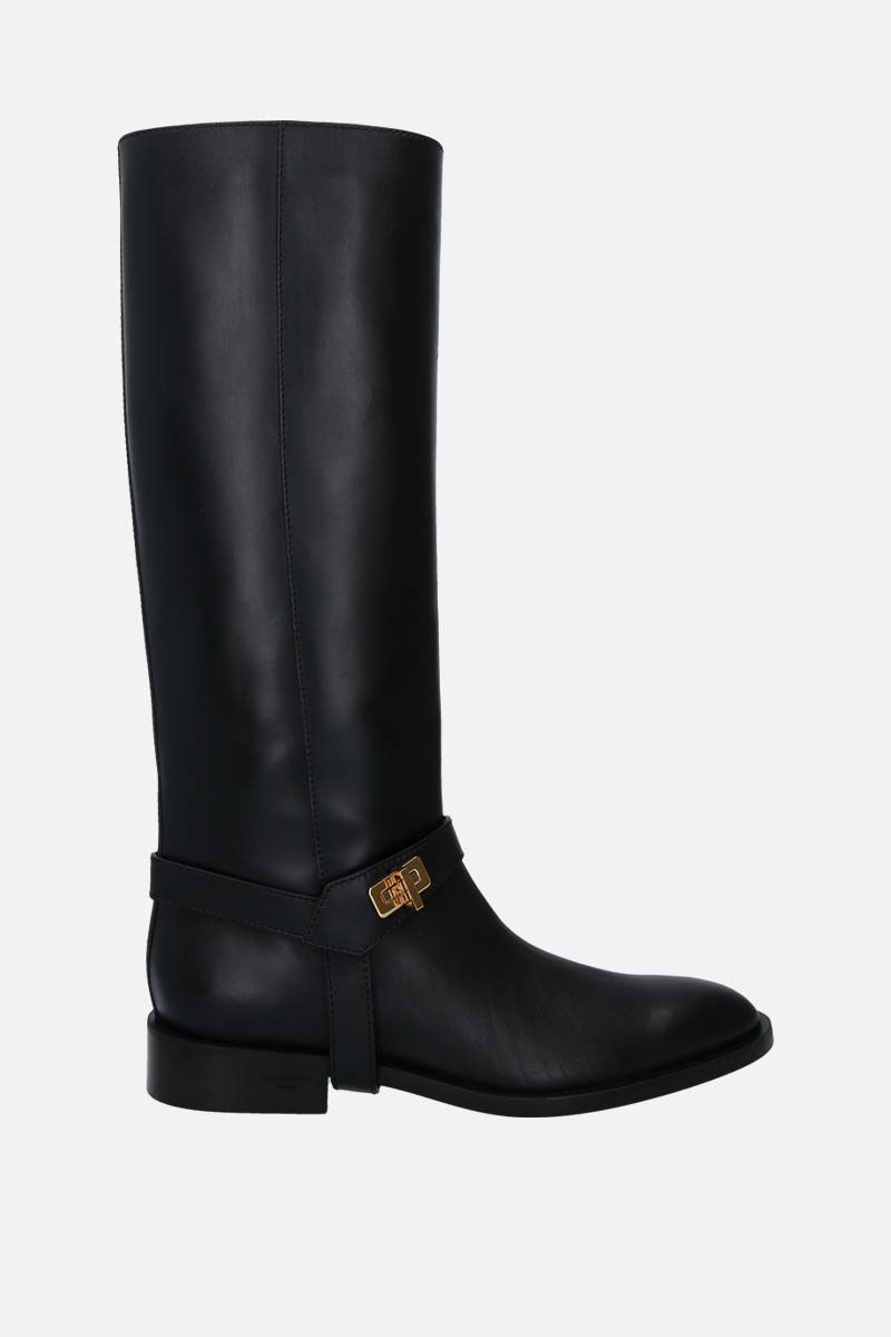 GIVENCHY: Eden smooth leather boots Color Black_1