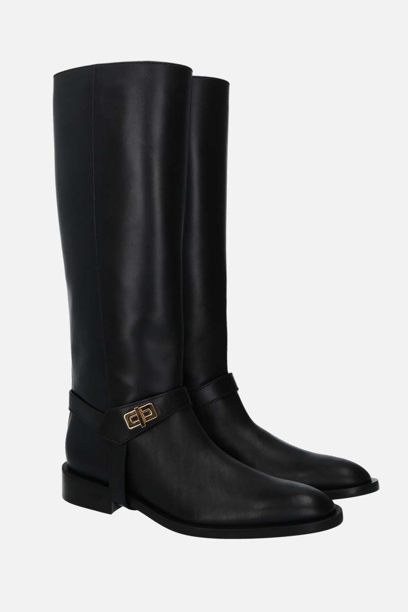 GIVENCHY: Eden smooth leather boots Color Black_2