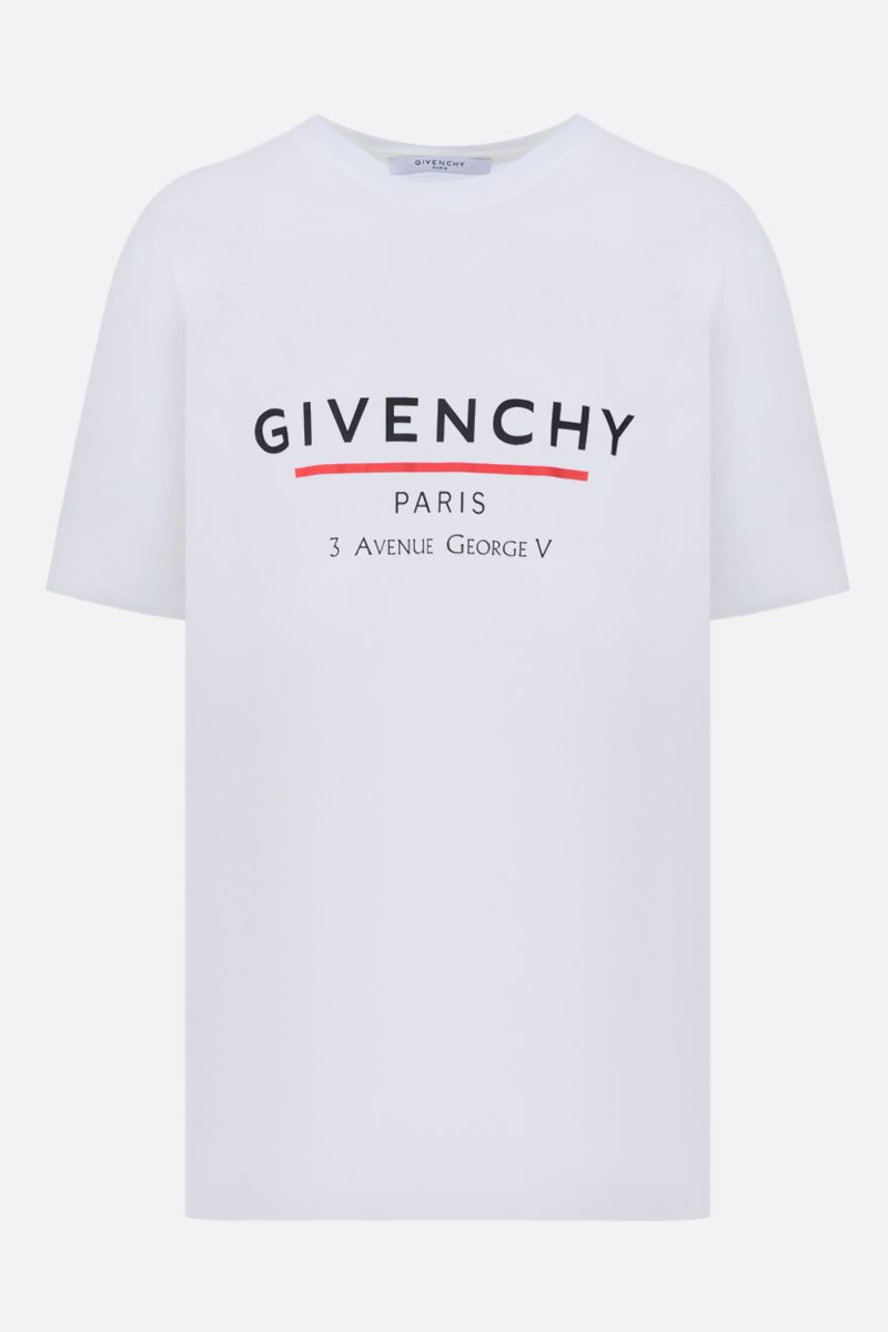 GIVENCHY: t-shirt oversize Givenchy Label in cotone Color White_1