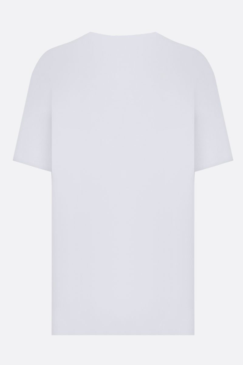 GIVENCHY: t-shirt oversize Givenchy Label in cotone Color White_2