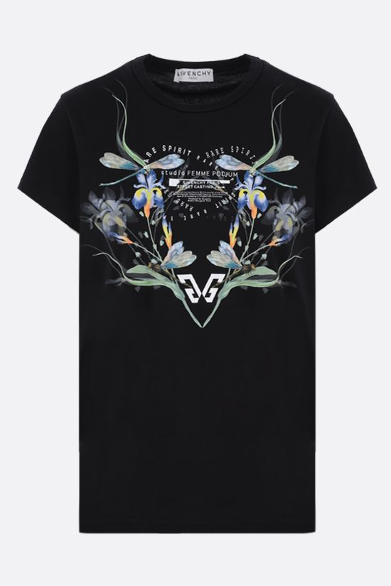 GIVENCHY: Studio Femme cotton t-shirt Color Black_1