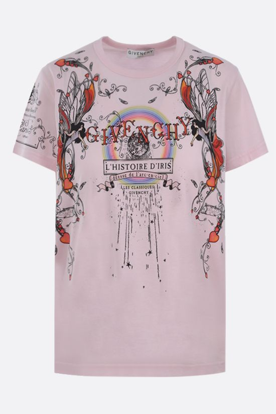 GIVENCHY: L'Histoire d'Iris print cotton t-shirt Color Pink_1
