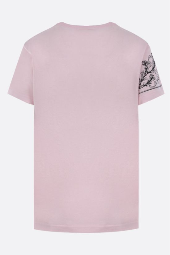 GIVENCHY: L'Histoire d'Iris print cotton t-shirt Color Pink_2