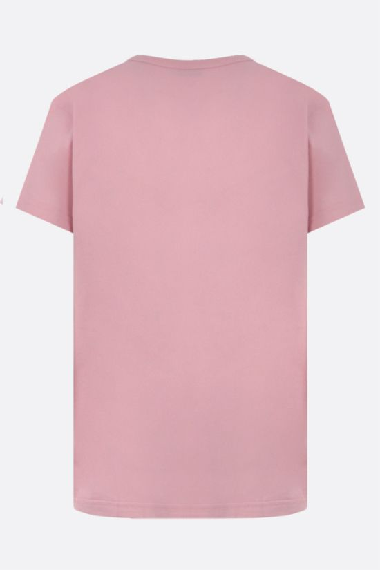 GIVENCHY: floral embroidery cotton t-shirt Color Pink_2