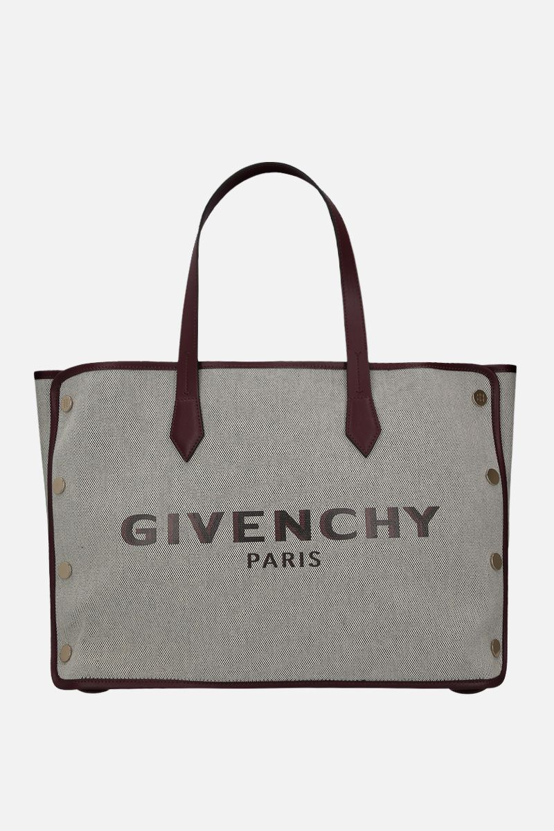 GIVENCHY: borsa tote Bond media in canvas Colore Viola_1