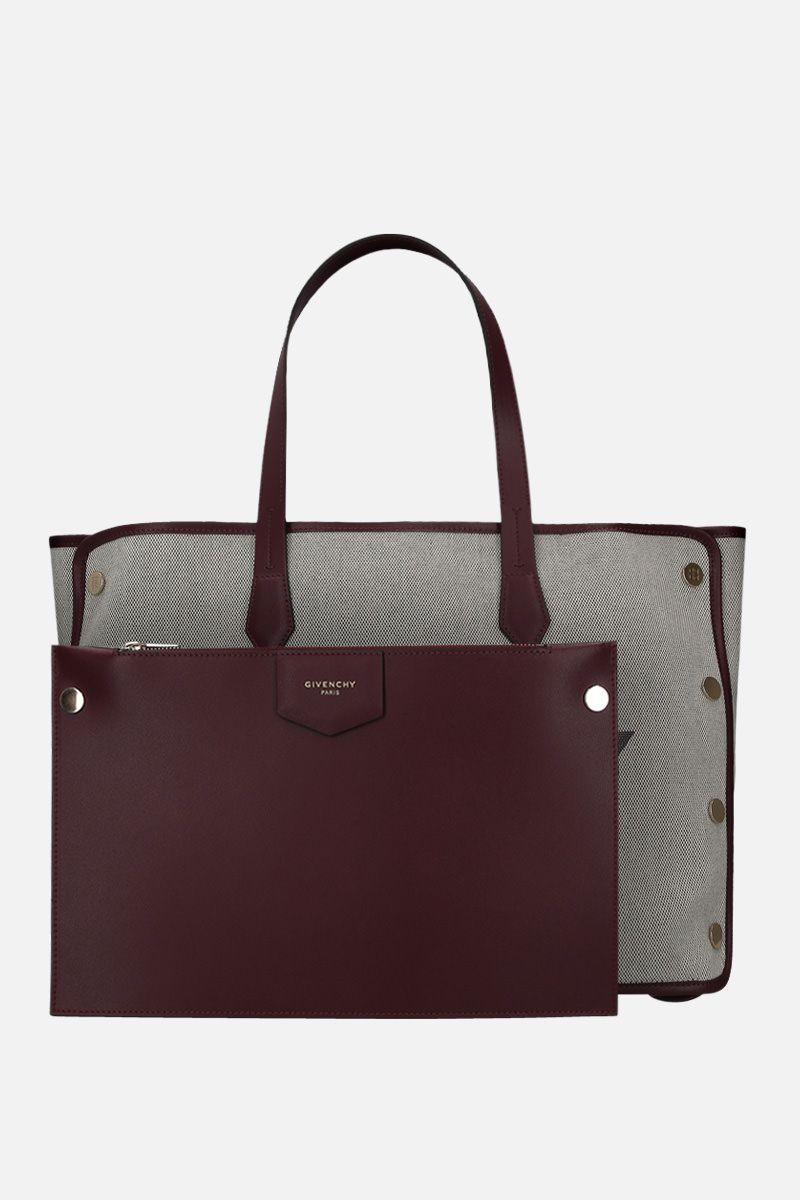 GIVENCHY: borsa tote Bond media in canvas Colore Viola_2
