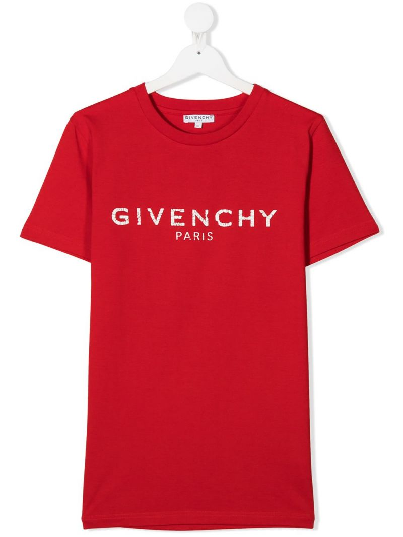 GIVENCHY KIDS: Givenchy cotton t-shirt Color Red_1