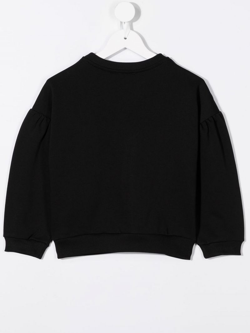GIVENCHY KIDS: felpa Givenchy in jersey Colore Nero_2