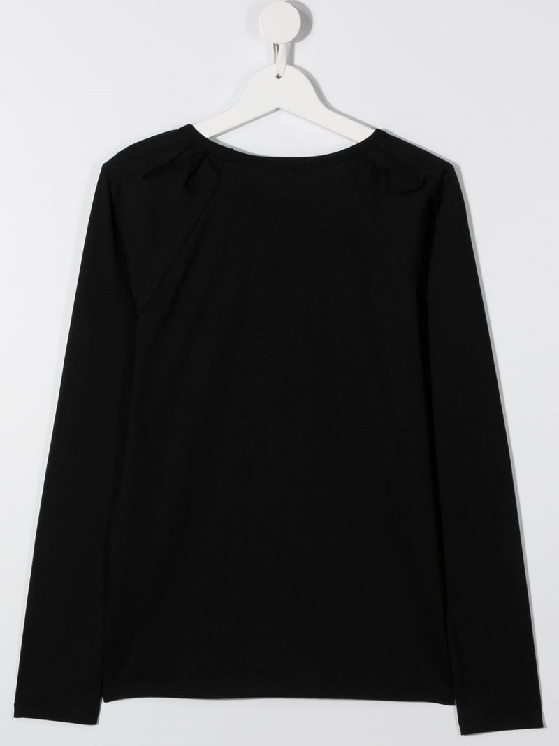 GIVENCHY KIDS: Givenchy print cotton long-sleeved t-shirt Color Black_2