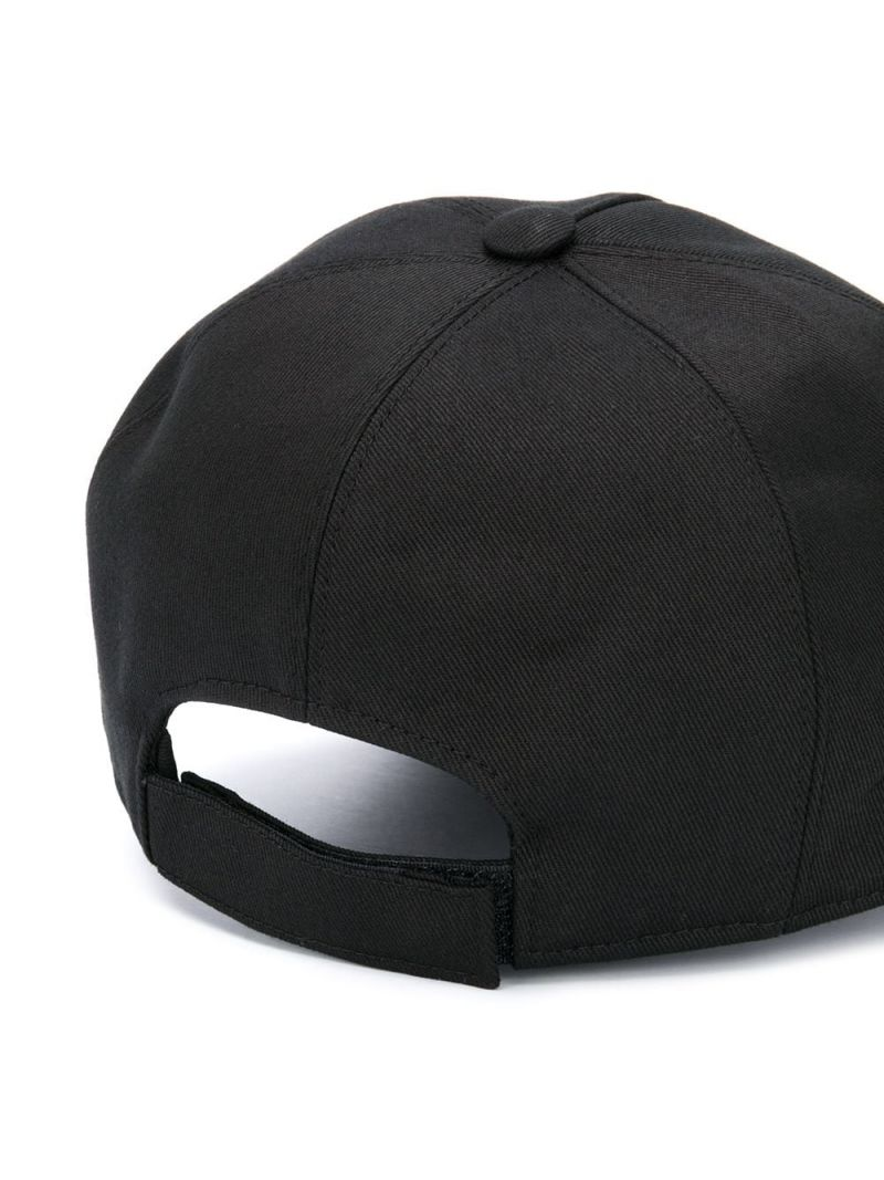 GIVENCHY KIDS: logo print gabardine baseball cap Color Black_2