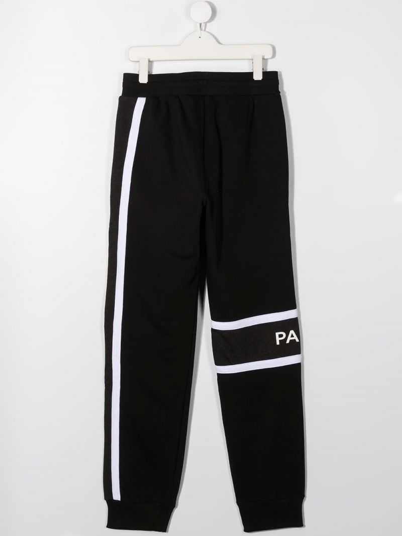 GIVENCHY KIDS: logo print technical cotton joggers Color Black_2