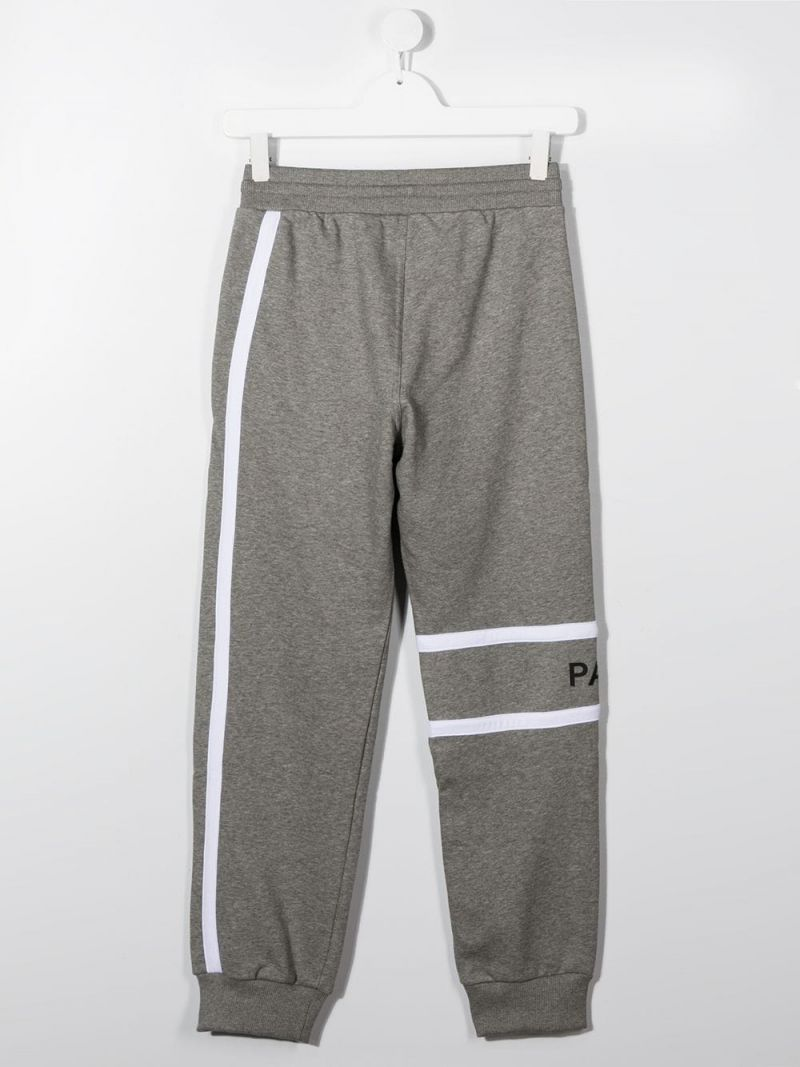 GIVENCHY KIDS: logo print technical cotton joggers Color Grey_2