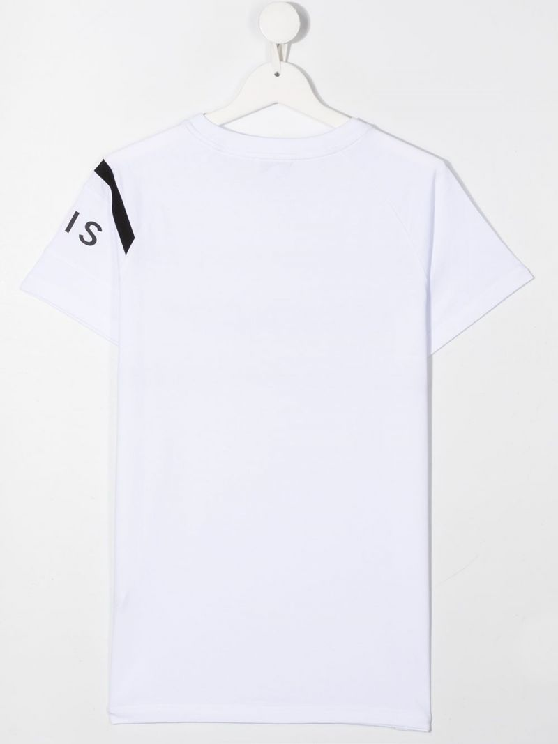 GIVENCHY KIDS: Givenchy Paris print cotton t-shirt Color White_2