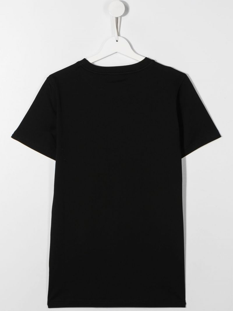 GIVENCHY KIDS: Givenchy Paris print cotton t-shirt Color Black_2
