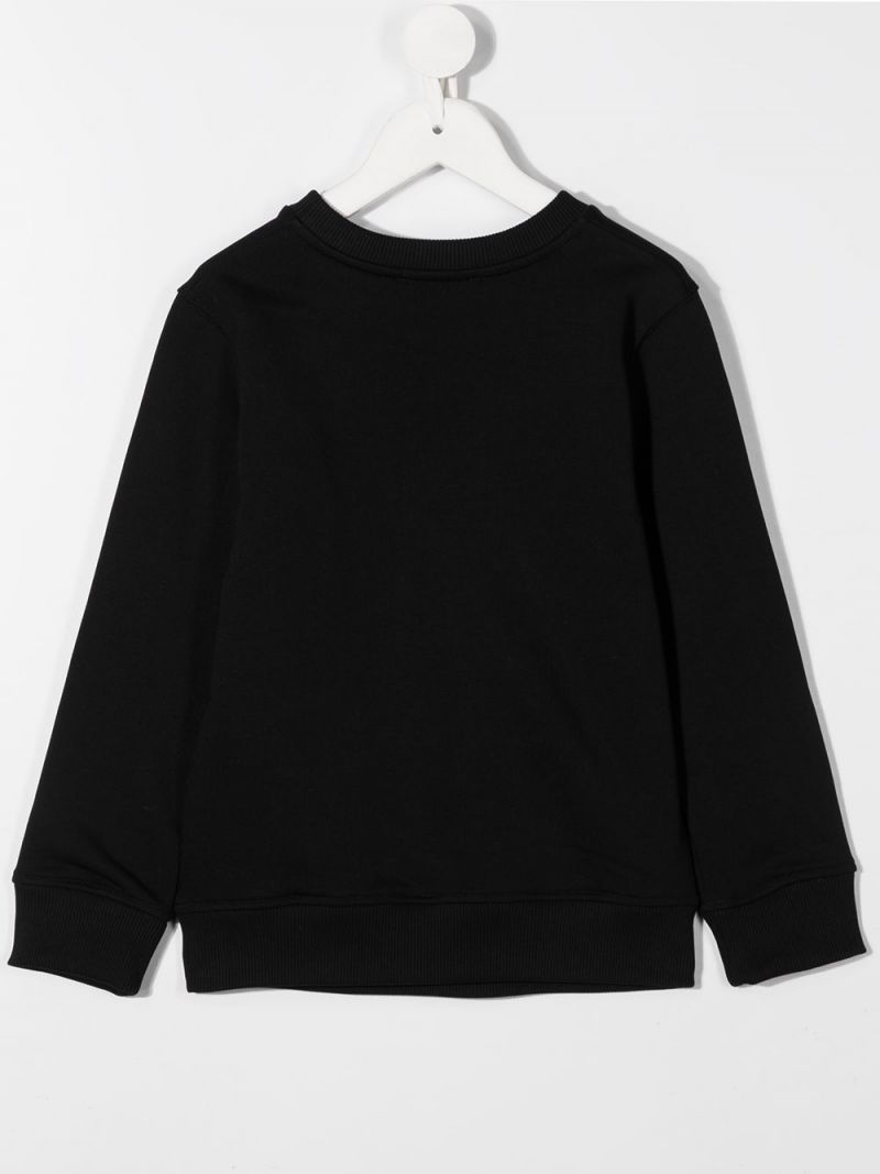 GIVENCHY KIDS: Givenchy Paris print cotton blend sweatshirt Color Black_2