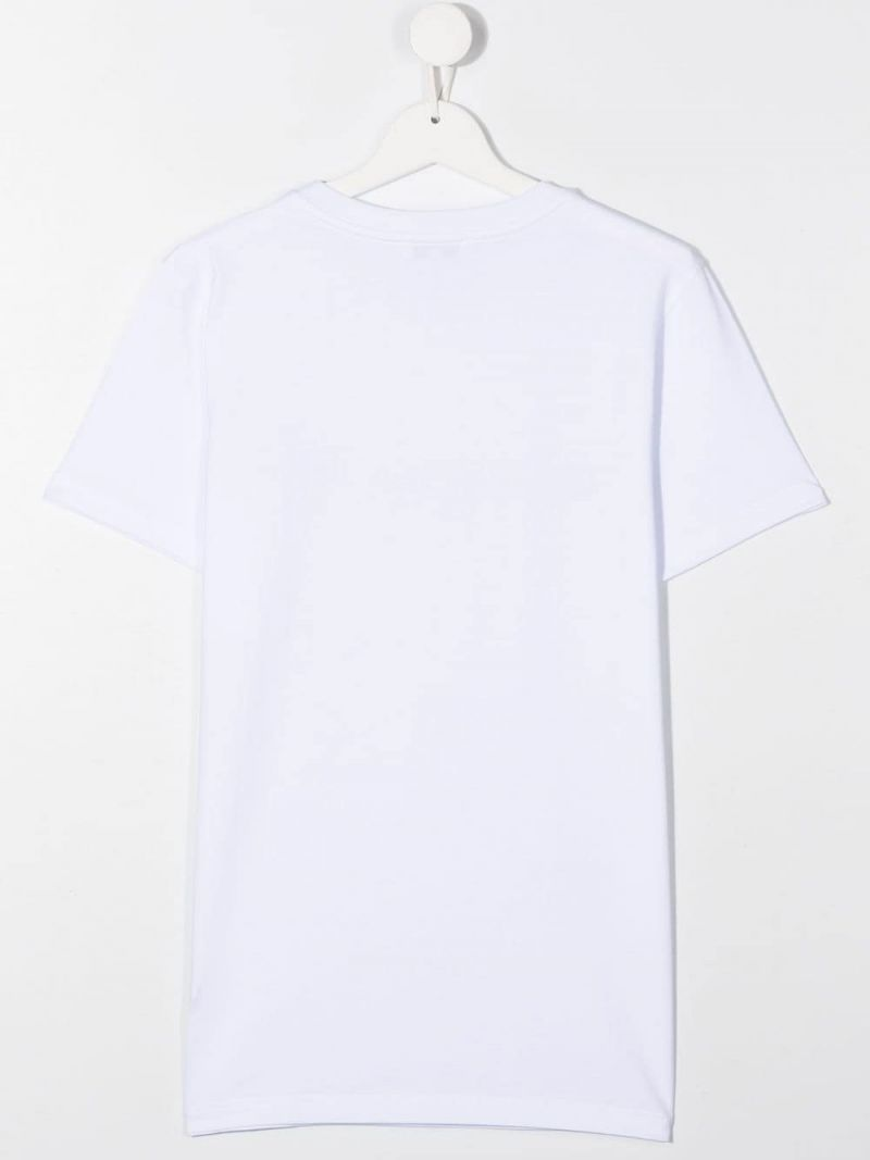 GIVENCHY KIDS: Givenchy cotton t-shirt Color White_2