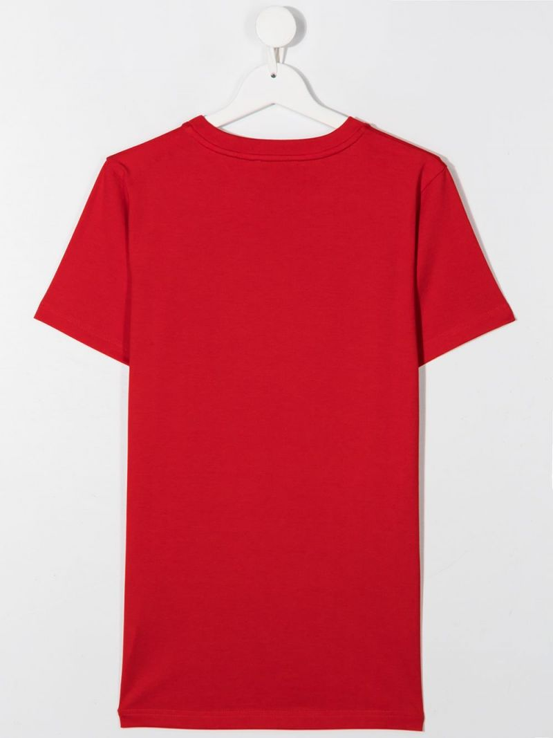GIVENCHY KIDS: Givenchy cotton t-shirt Color Red_2