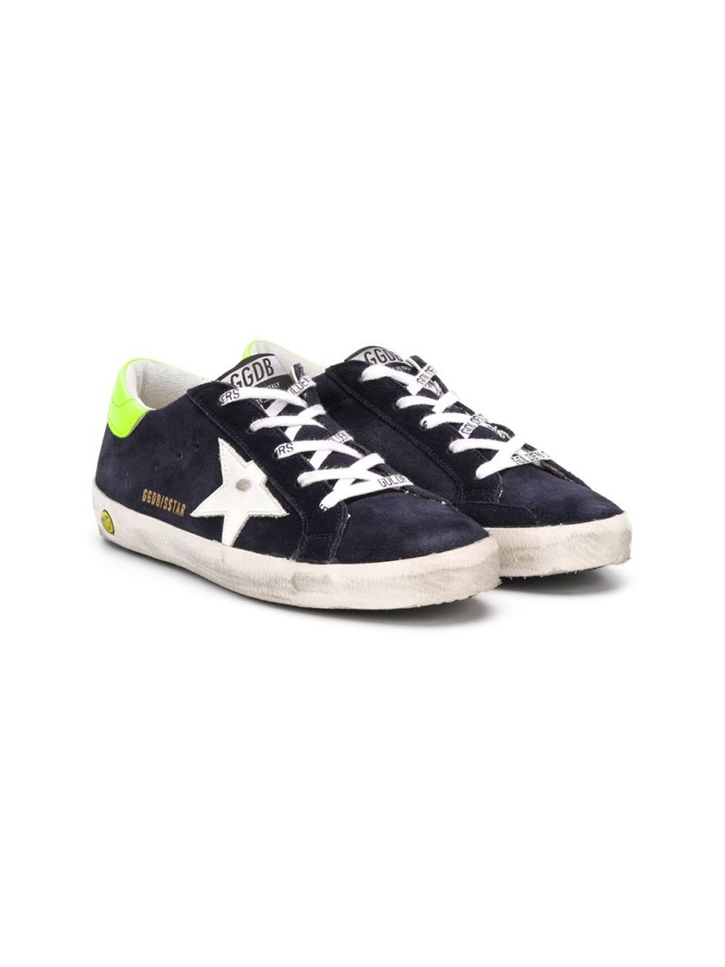 GOLDEN GOOSE DELUXE BRAND KIDS: Superstar suede sneakers Color Multicolor_1