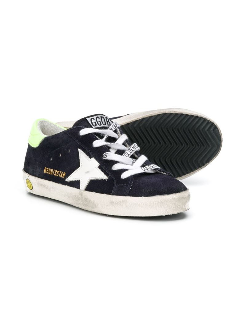 GOLDEN GOOSE DELUXE BRAND KIDS: Superstar suede sneakers Color Multicolor_2