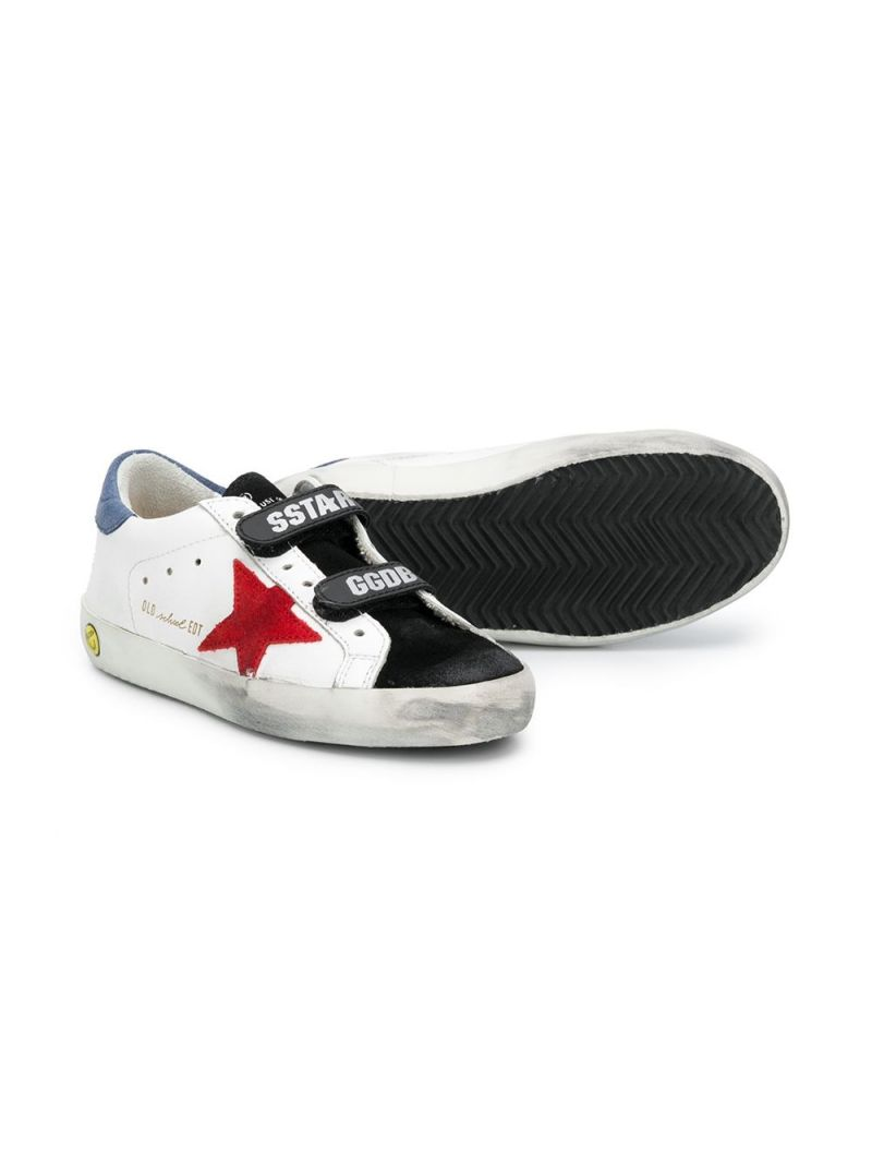 GOLDEN GOOSE DELUXE BRAND KIDS: Superstar smooth leather and velvet sneakers Color White_2