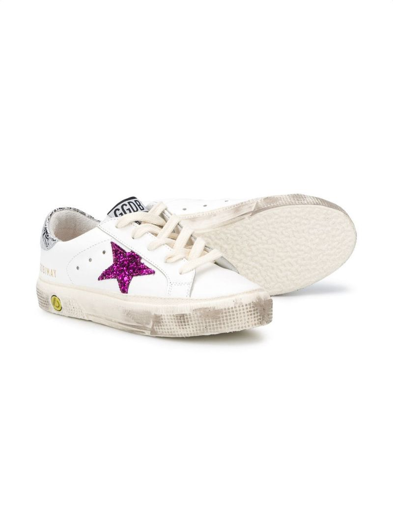 GOLDEN GOOSE DELUXE BRAND KIDS: Superstar smooth leather sneakers Color Multicolor_2