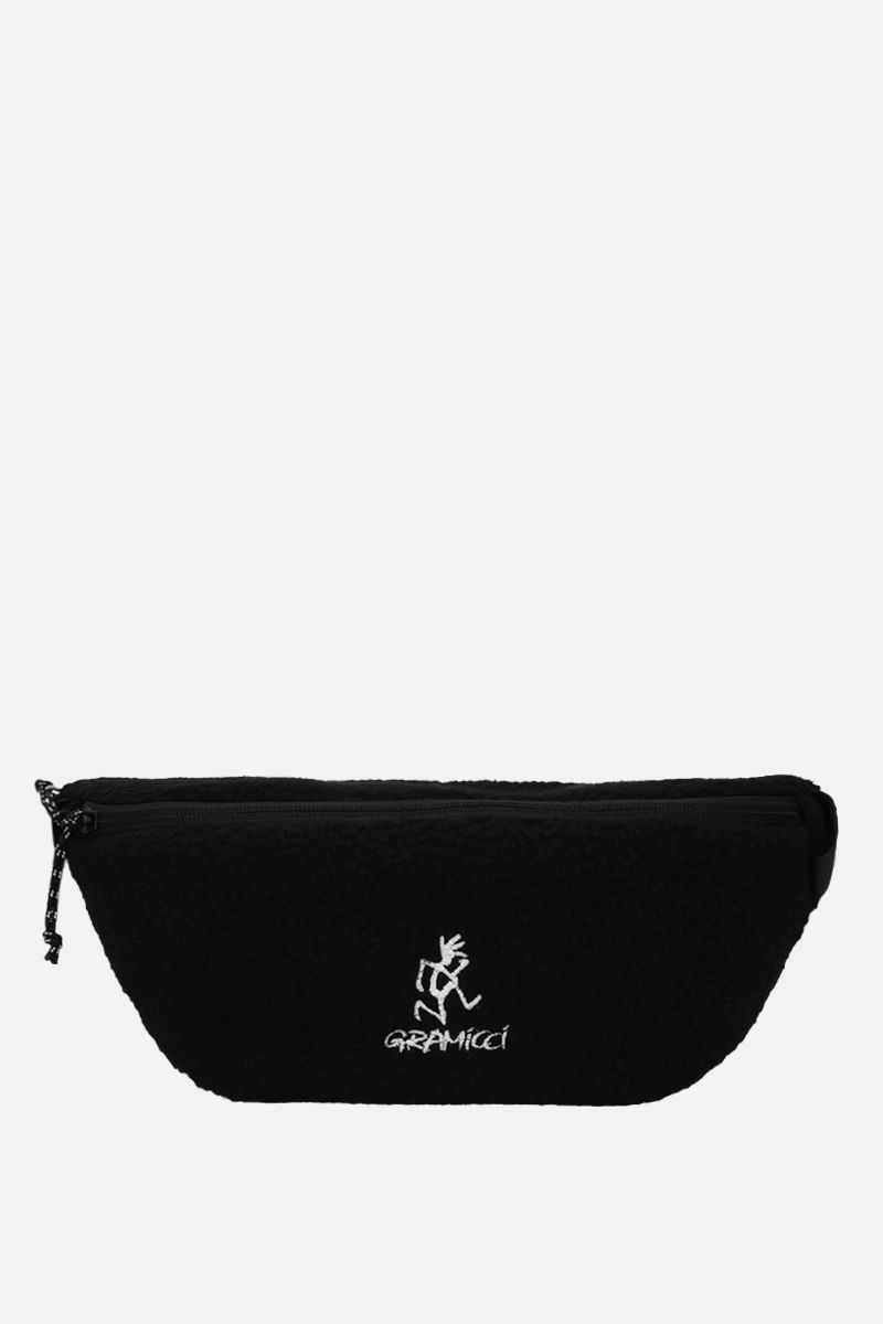 GRAMICCI: Gramicci embroidered fleece belt bag Color Black_1