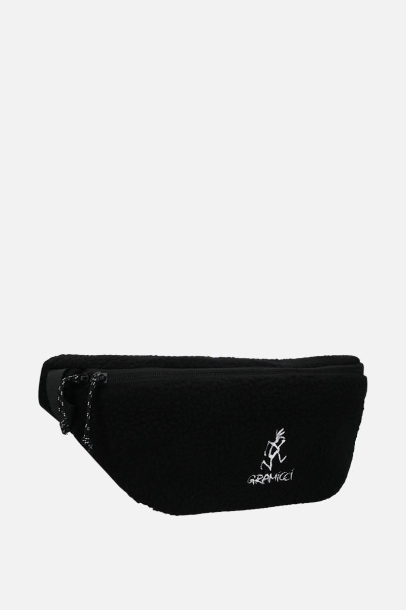 GRAMICCI: Gramicci embroidered fleece belt bag Color Black_2