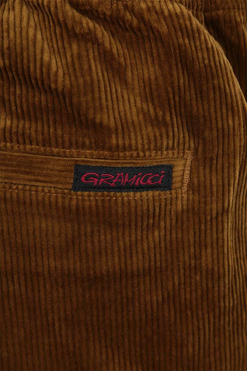 GRAMICCI: tapered-fit corduroy pants Color Brown_5