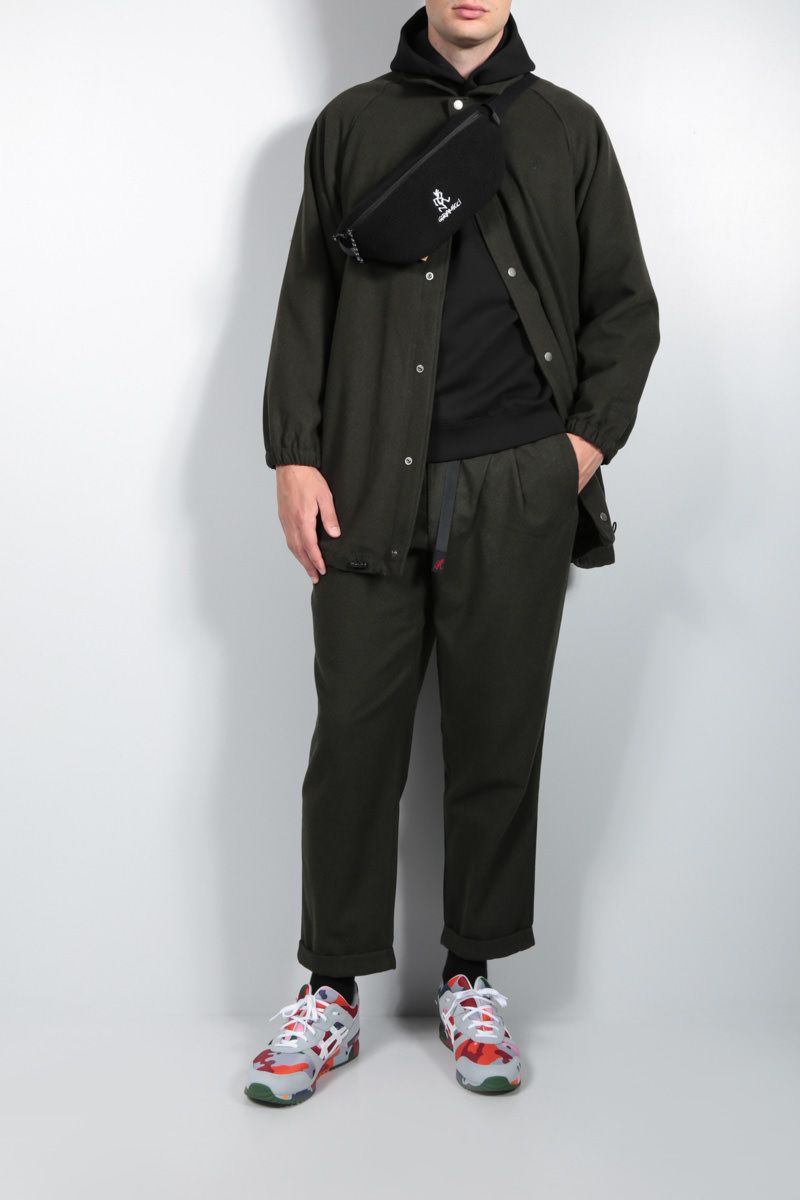 GRAMICCI: tapered-fit wool blend pants Color Green_3