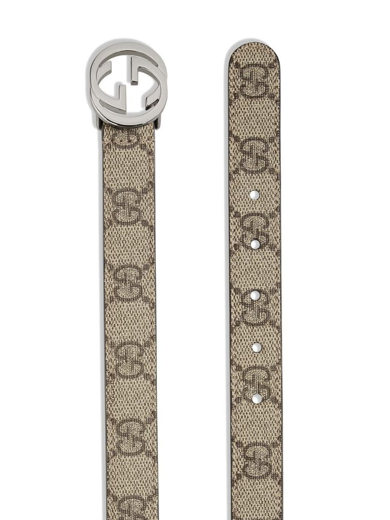GUCCI CHILDREN: GG Supreme coated canvas belt Color Neutral_2