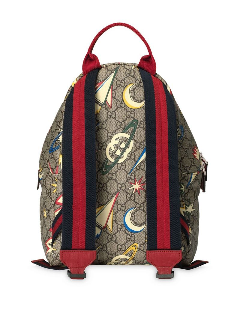 GUCCI CHILDREN: space print GG Supreme canvas backpack Color Multicolor_2