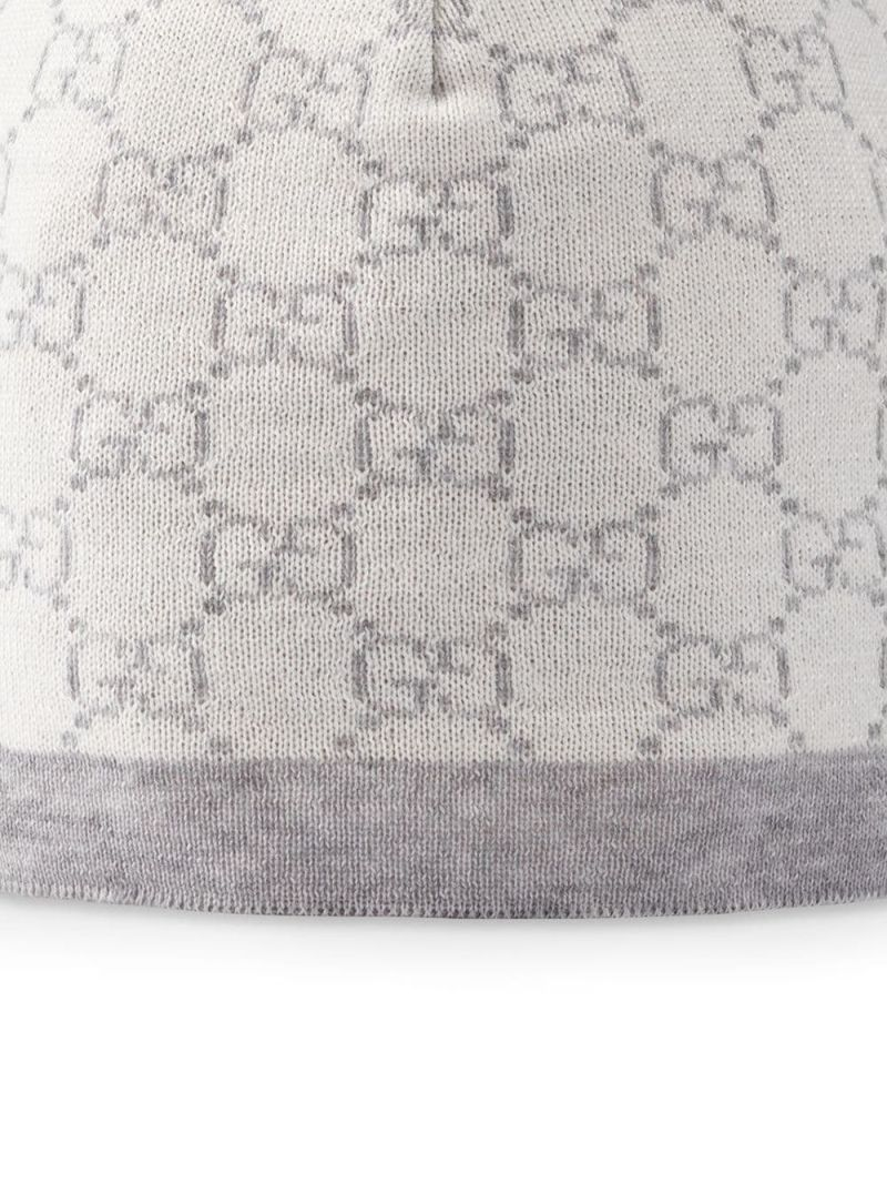 GUCCI CHILDREN: GG wool beanie Color Neutral_2