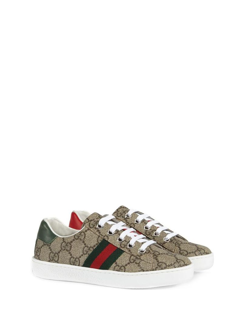 GUCCI CHILDREN: Ace sneakers in GG Supreme canvas Color Multicolor_2