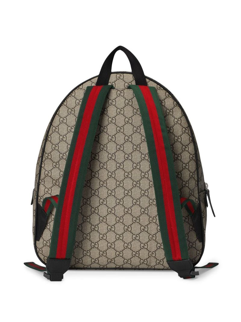 GUCCI CHILDREN: punk print GG Supreme canvas backpack Color Multicolor_2