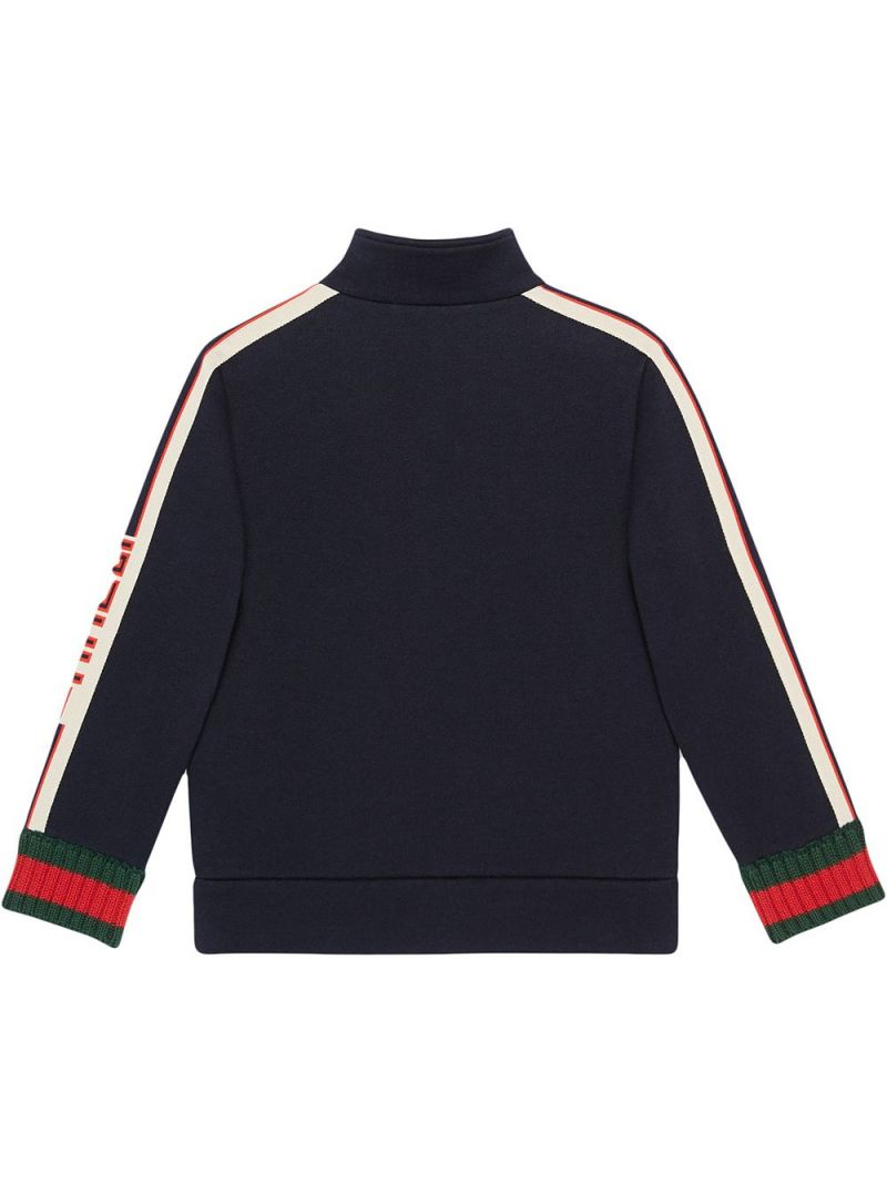 GUCCI CHILDREN: Gucci jacquard-detailed cotton full-zip sweatshirt Color Multicolor_2
