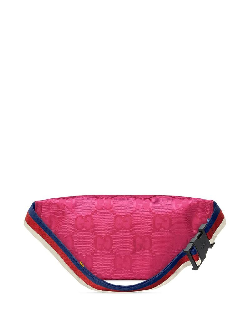 GUCCI CHILDREN: GG ECONYL® belt bag Color Purple_2