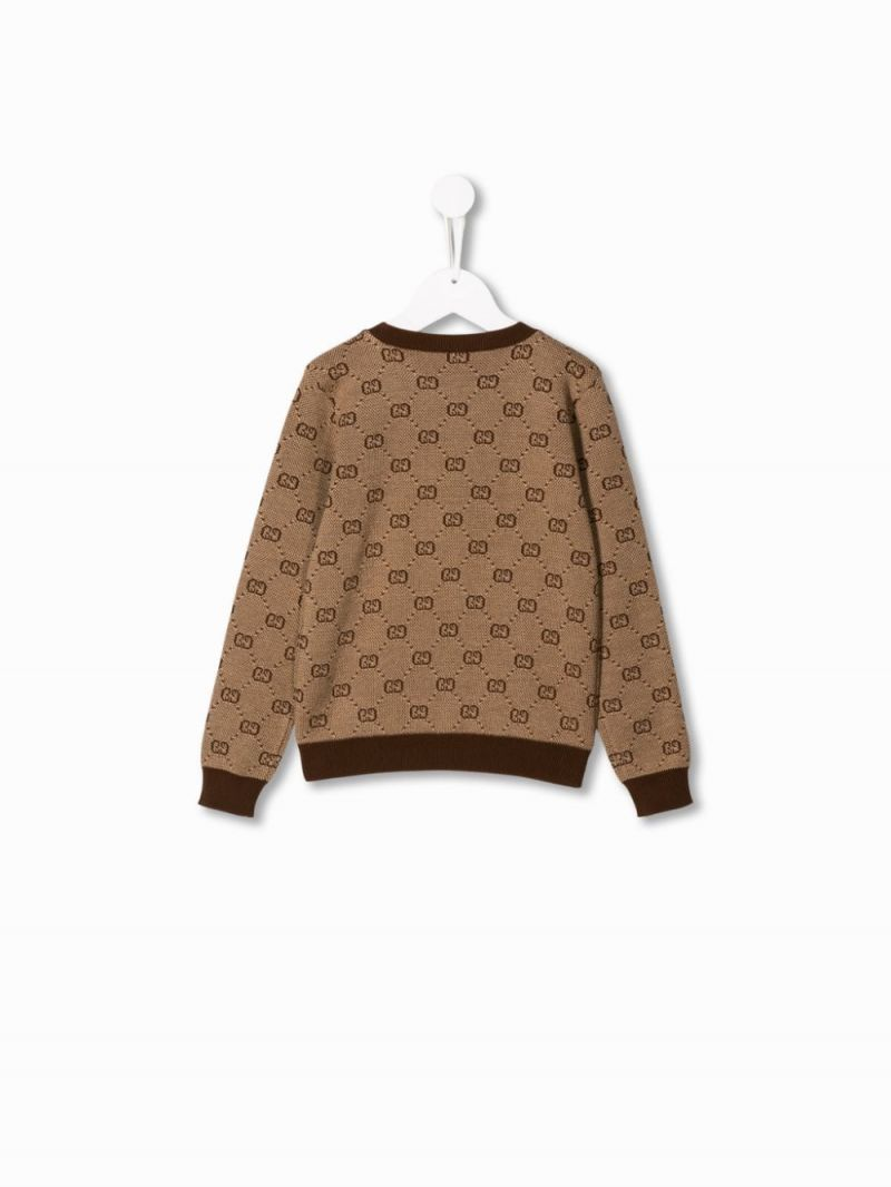 GUCCI CHILDREN: GG wool cotton pullover Color Multicolor_2