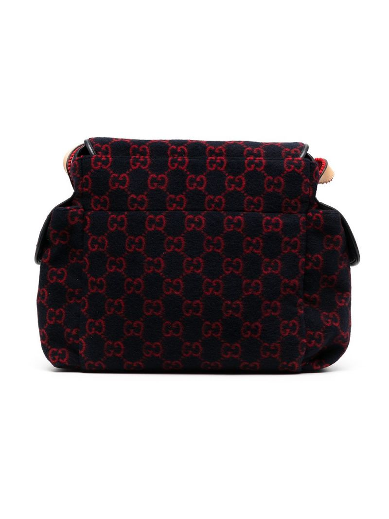 GUCCI CHILDREN: GG wool changing bag Color Blue_2
