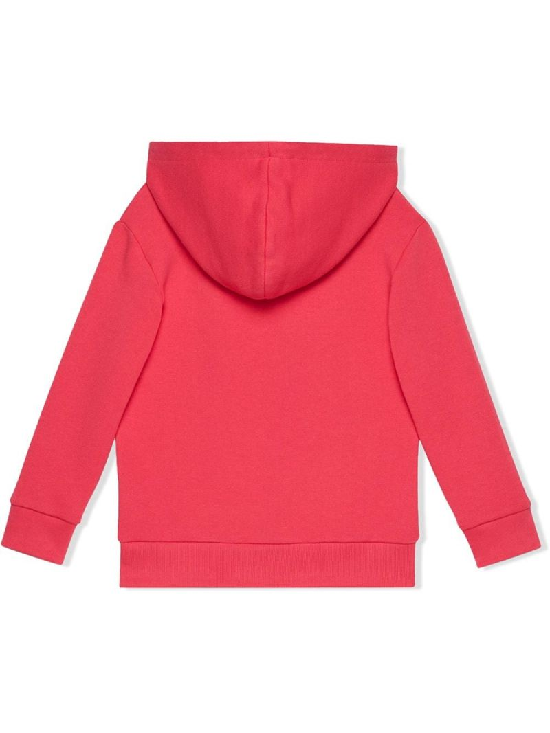 GUCCI CHILDREN: Gucci vintage print cotton hoodie Color Pink_2