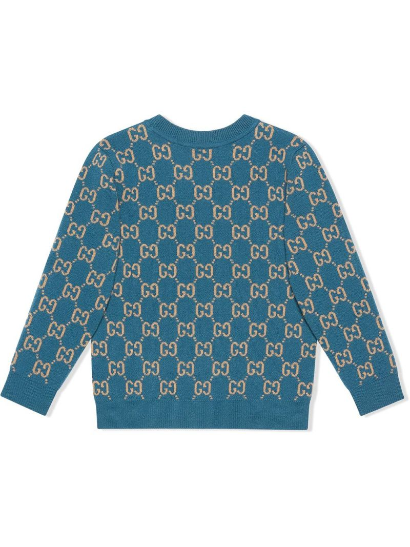 GUCCI CHILDREN: pullover in lana GG Colore Multicolore_2