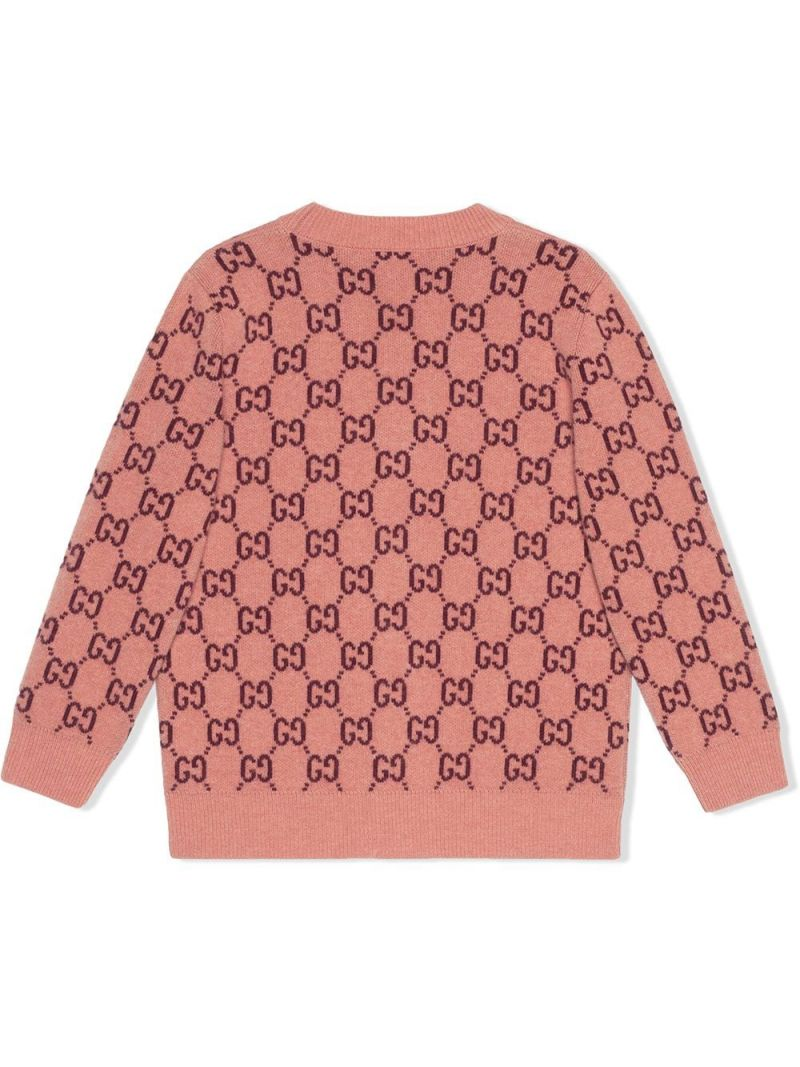 GUCCI CHILDREN: GG wool cardigan Color Pink_2