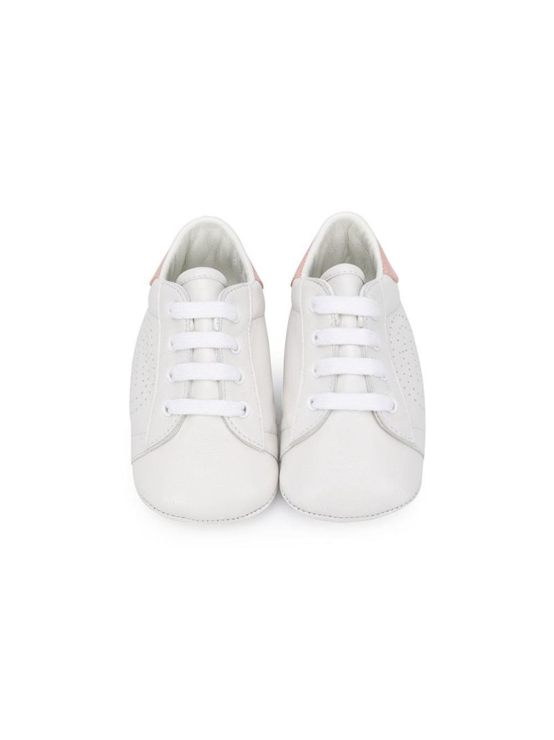 GUCCI CHILDREN: Ace smooth leather sneakers Color White_3