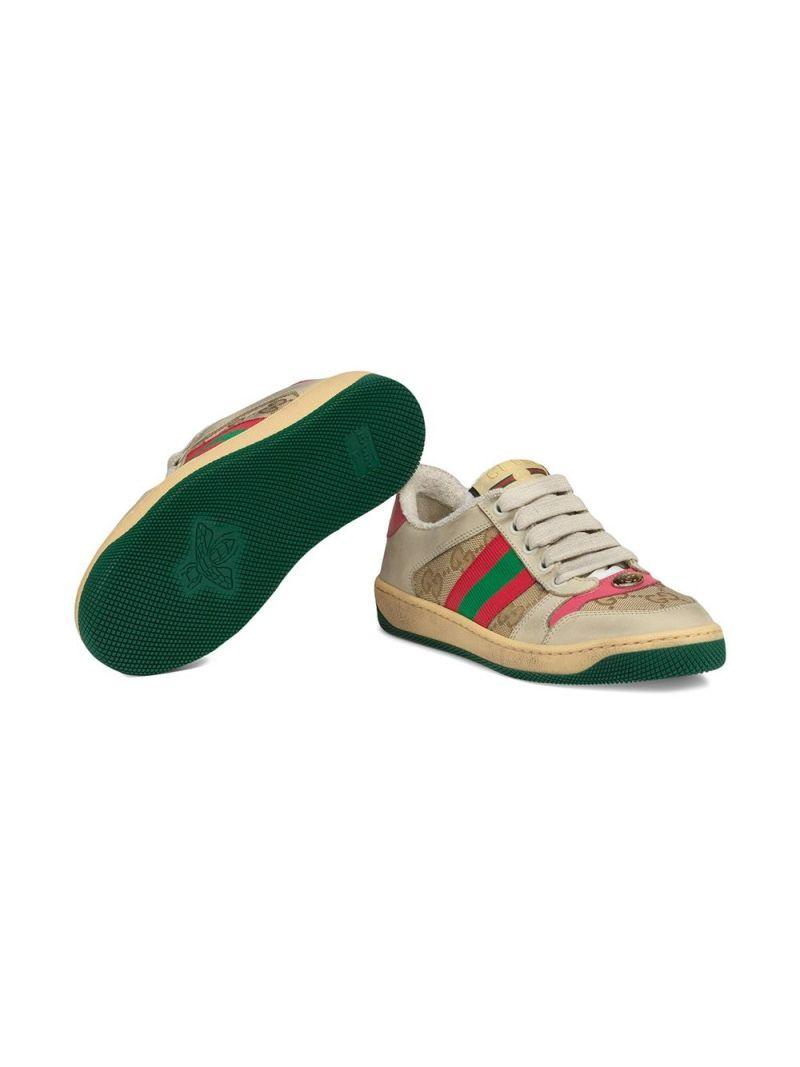 GUCCI CHILDREN: sneaker Screener in nabuk e canvas Colore Multicolore_2