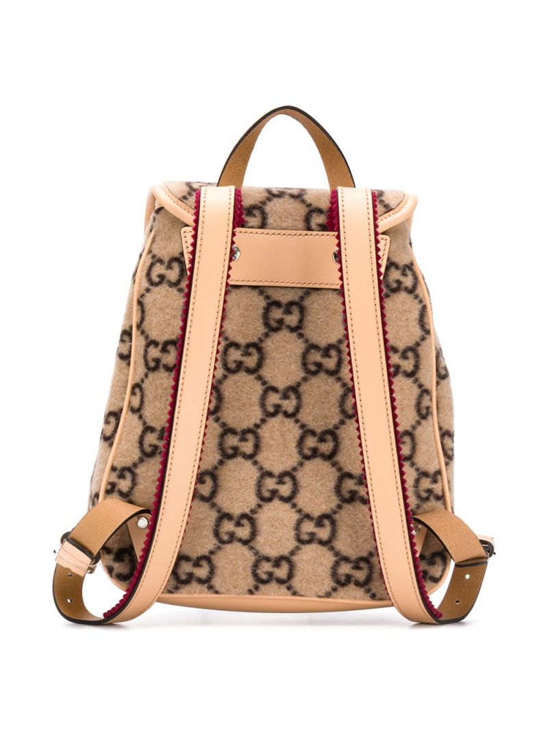GUCCI CHILDREN: GG wool backpack Color Brown_2
