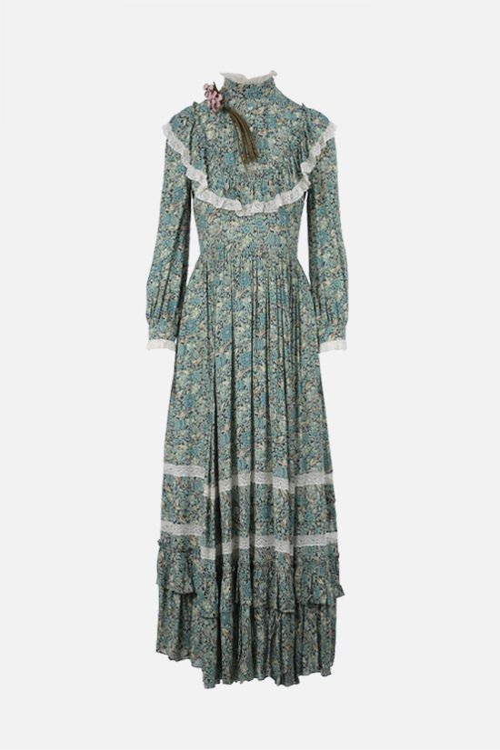 GUCCI: Gucci Liberty floral crepe maxi dress_1