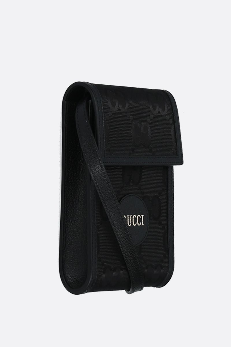 GUCCI: Gucci of the Grid smartphone holder in ECONYL® Color Black_2