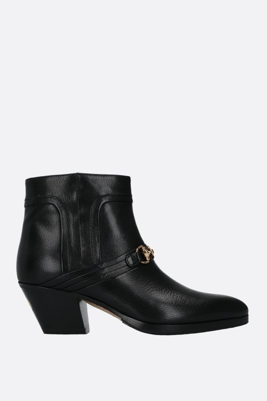 GUCCI: Quentin shiny leather western boots Color Black_1